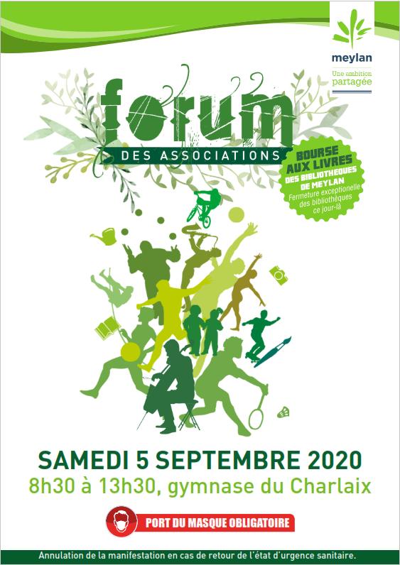 Forum des associations – Le 05 septembre 2020 de 08h30 à 13h30